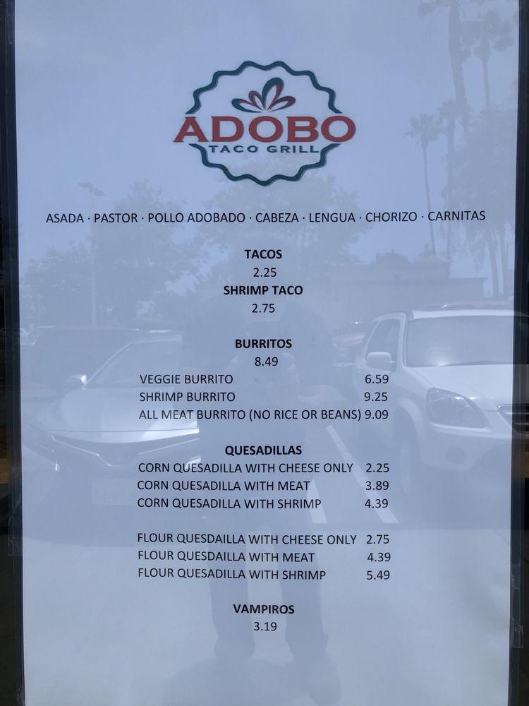 adobo menu june 2020